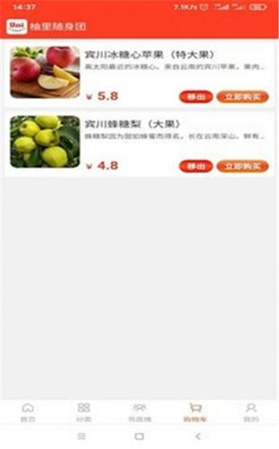 柚里随身团app购物平台
